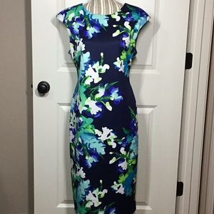 Vince Camuto Floral Sheath Dress - size 14